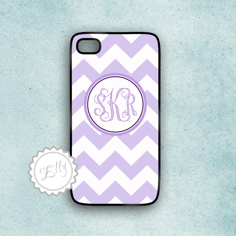 lavender chevron iphone 4s case monogram hard cover 4 or 4S